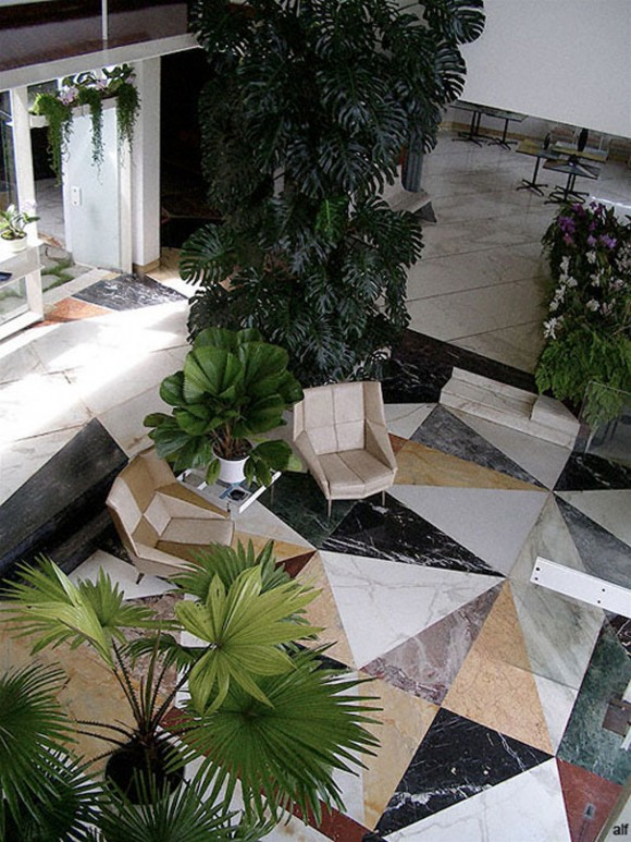 abstract tile flooring decor