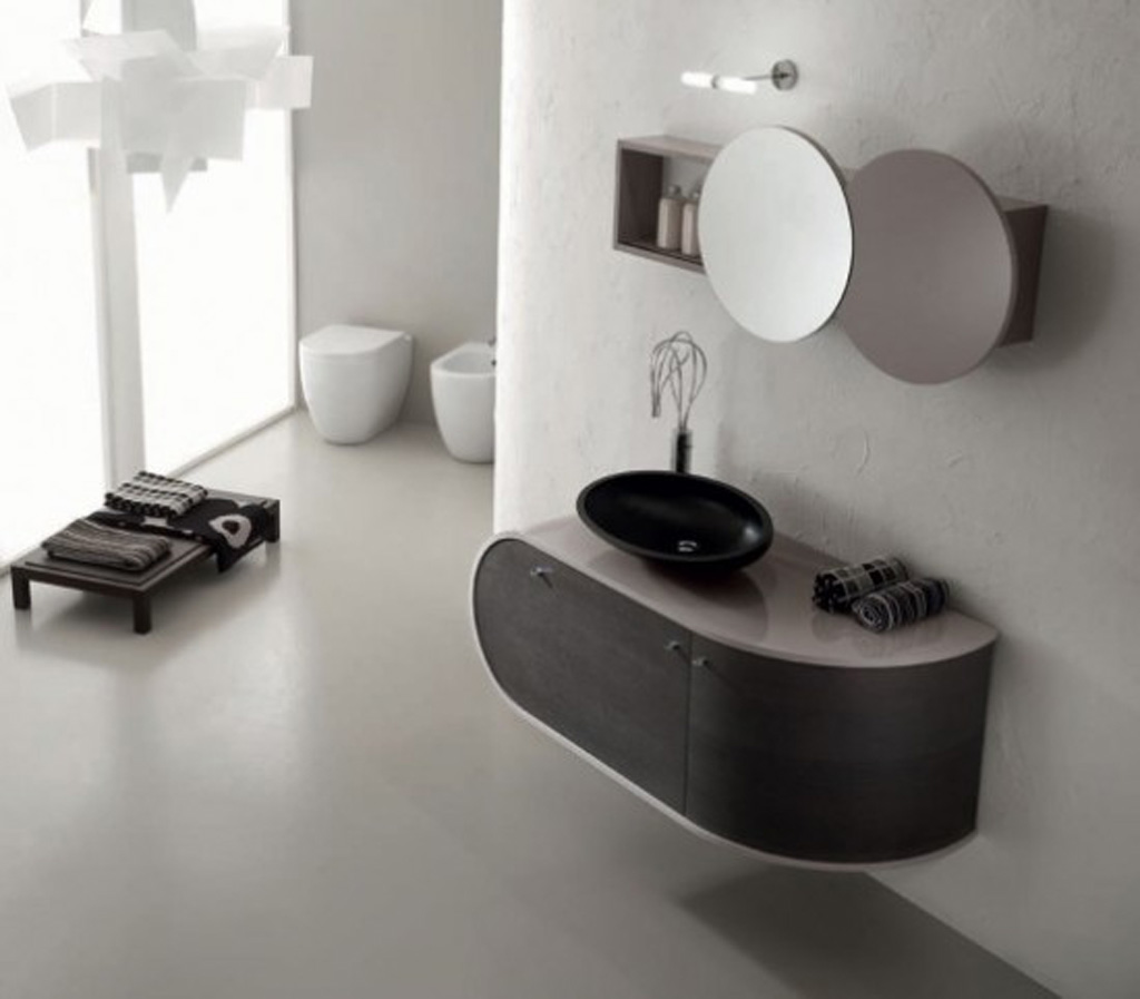 Black and white bathroom furniture for Black bathroom designs