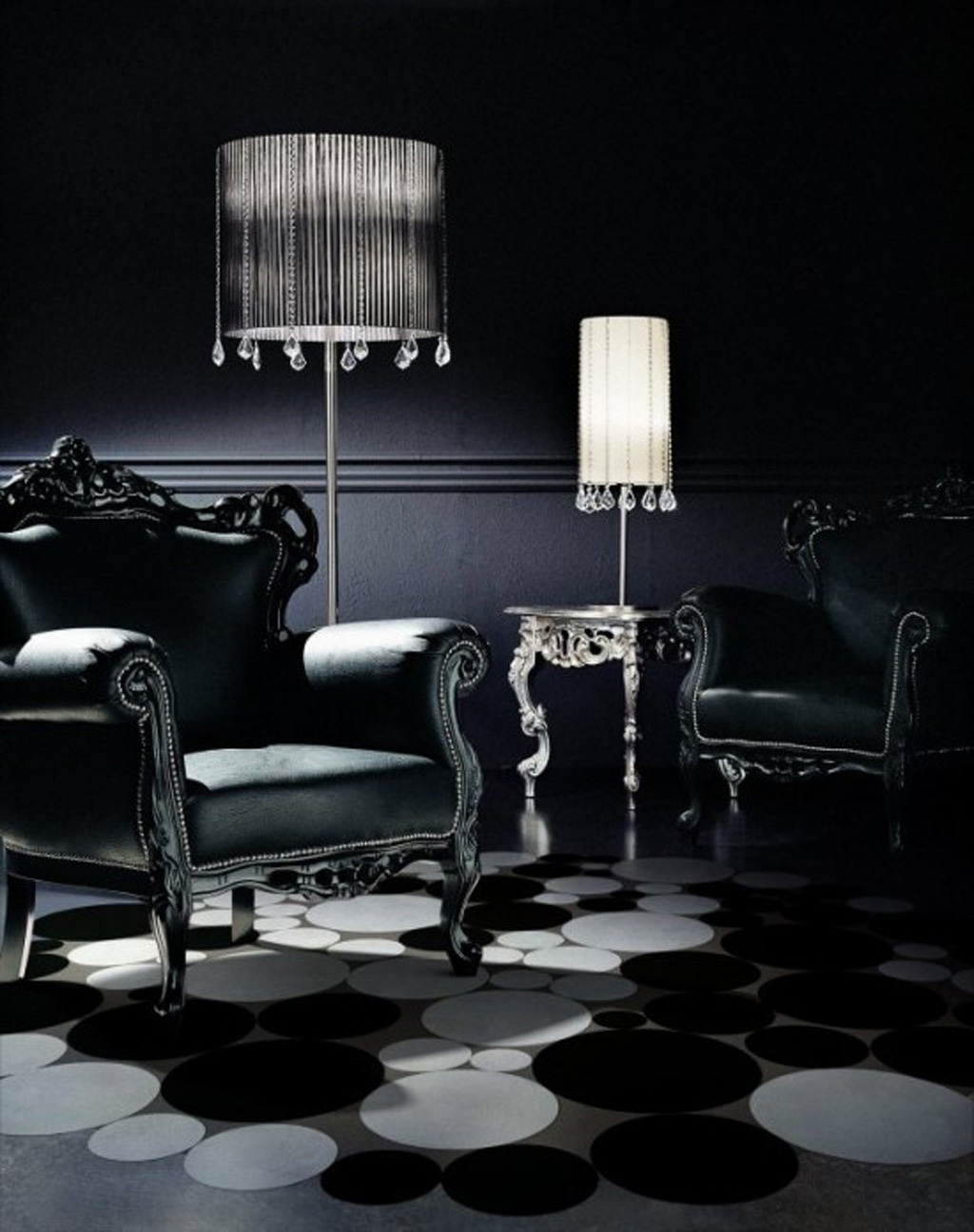 interior design in black - photo #7