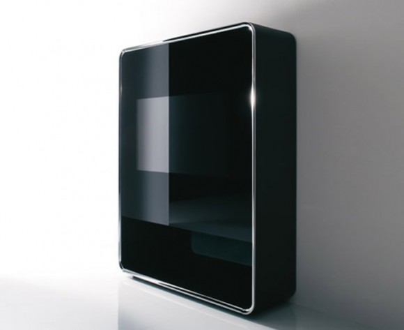 black elegant TV cabinet design
