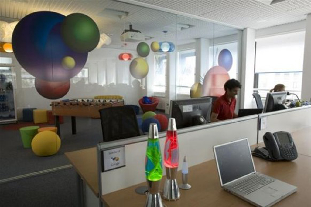 Colorful Google Office Interior Design Iroonie Com