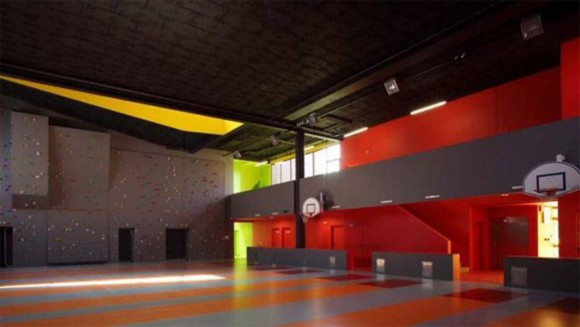 colorful youth center interior decor