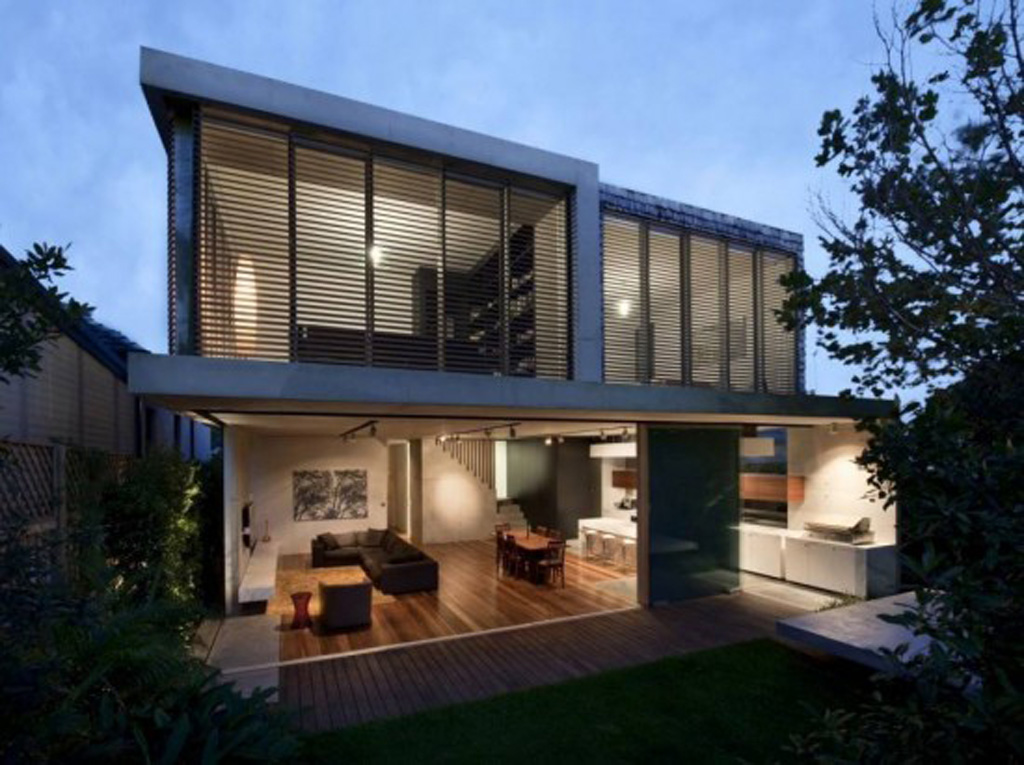 Modern concrete structures house design in sydney for Concrete house plans