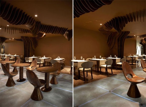 contemporary restaurant interior decor