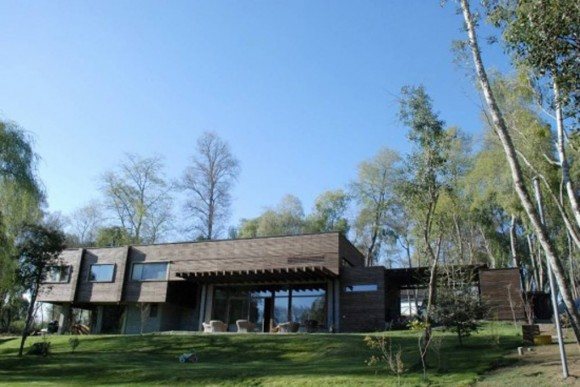 contemporary wood house layouts