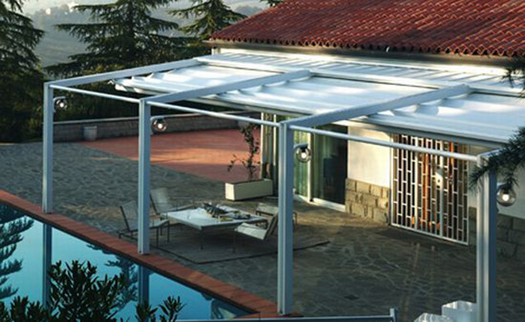 Corradi pergola inspiration plans for Pergola aluminium design