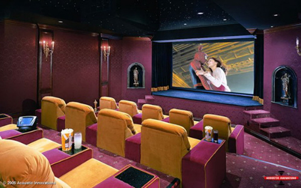 Elegant Movie Room Interior Decor