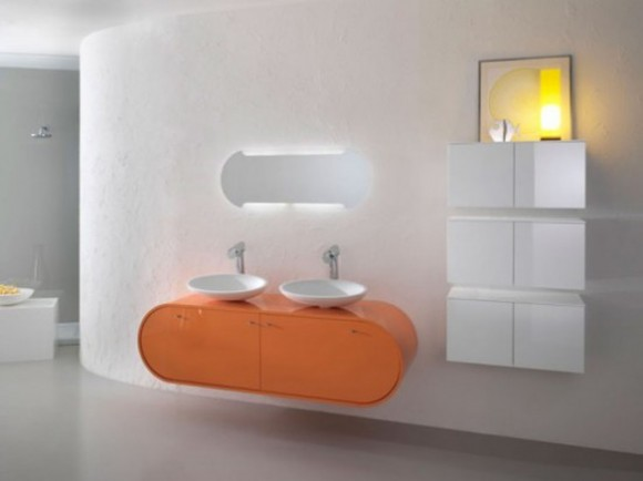 futuristic bathroom interior decor