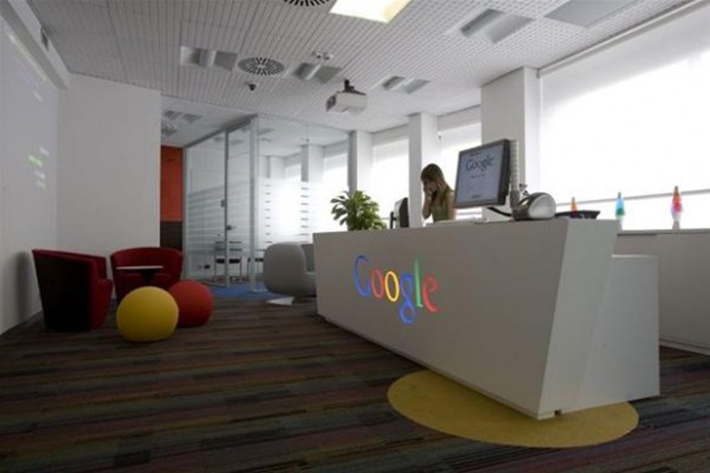 Google office reception room for Bureau reception