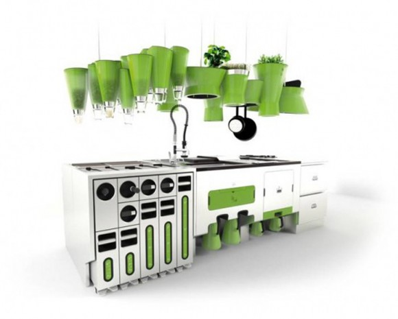 green unique kitchen table