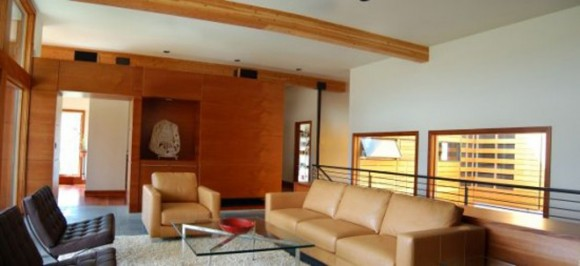 living room leather sofa decor
