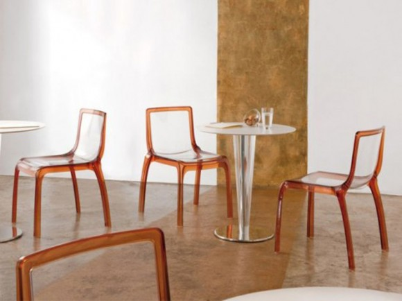 modern glass dining chair decor