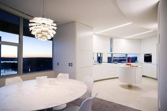 modern integrated kitchen design