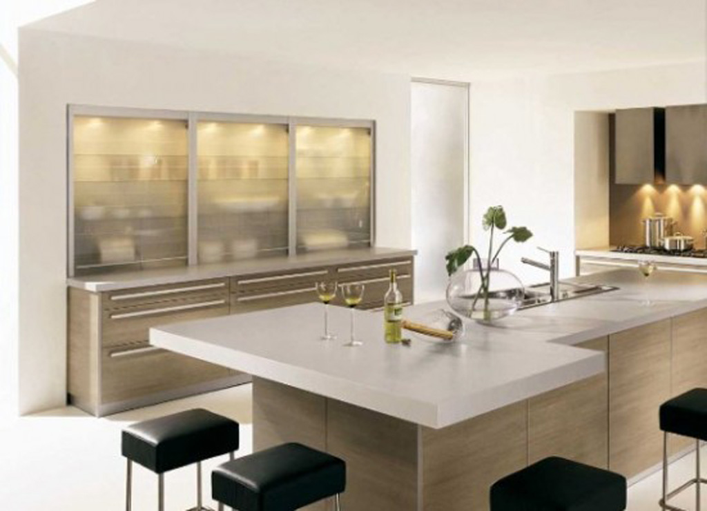 Modern kitchen interior decor for Pics of modern kitchen designs