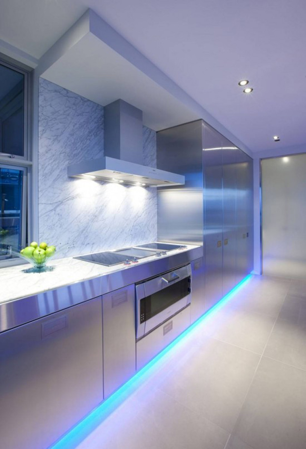 Modern kitchen interior decor for Interior lighting design