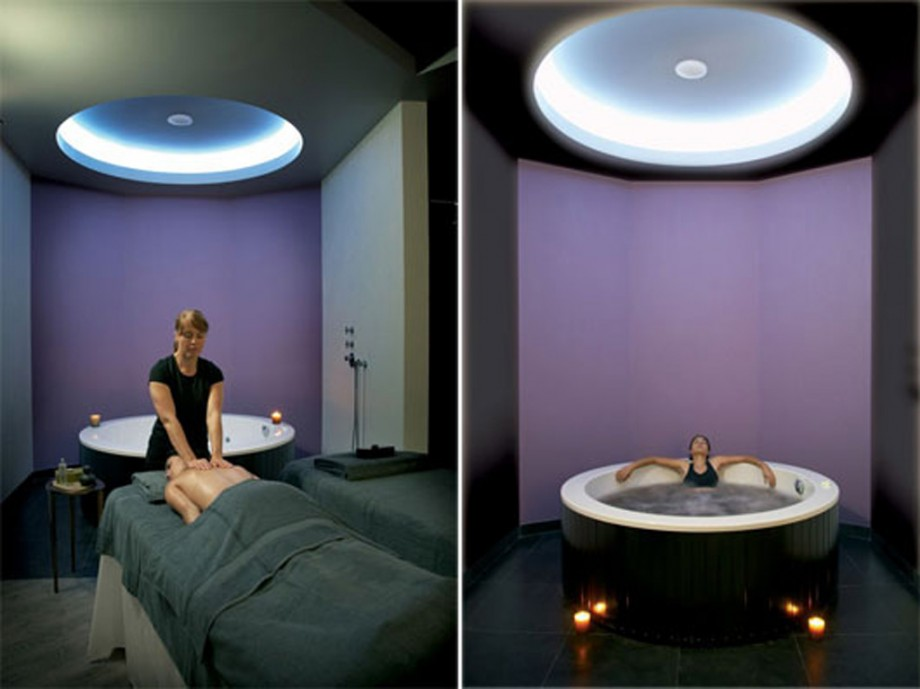 Modern private spa design for Spa interior designs