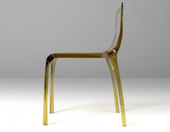 modern transparent dining chairs