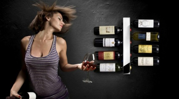 modern wall wine shelf ideas
