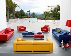 outdoor leather sofas design