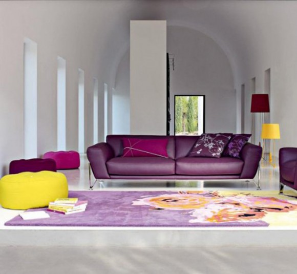 roche bobbois spring leather sofa