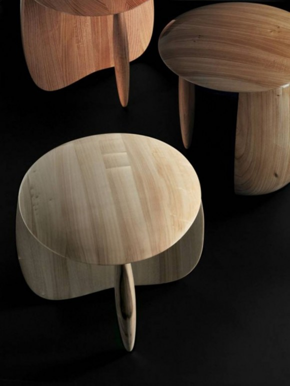 solid wooden stool decor