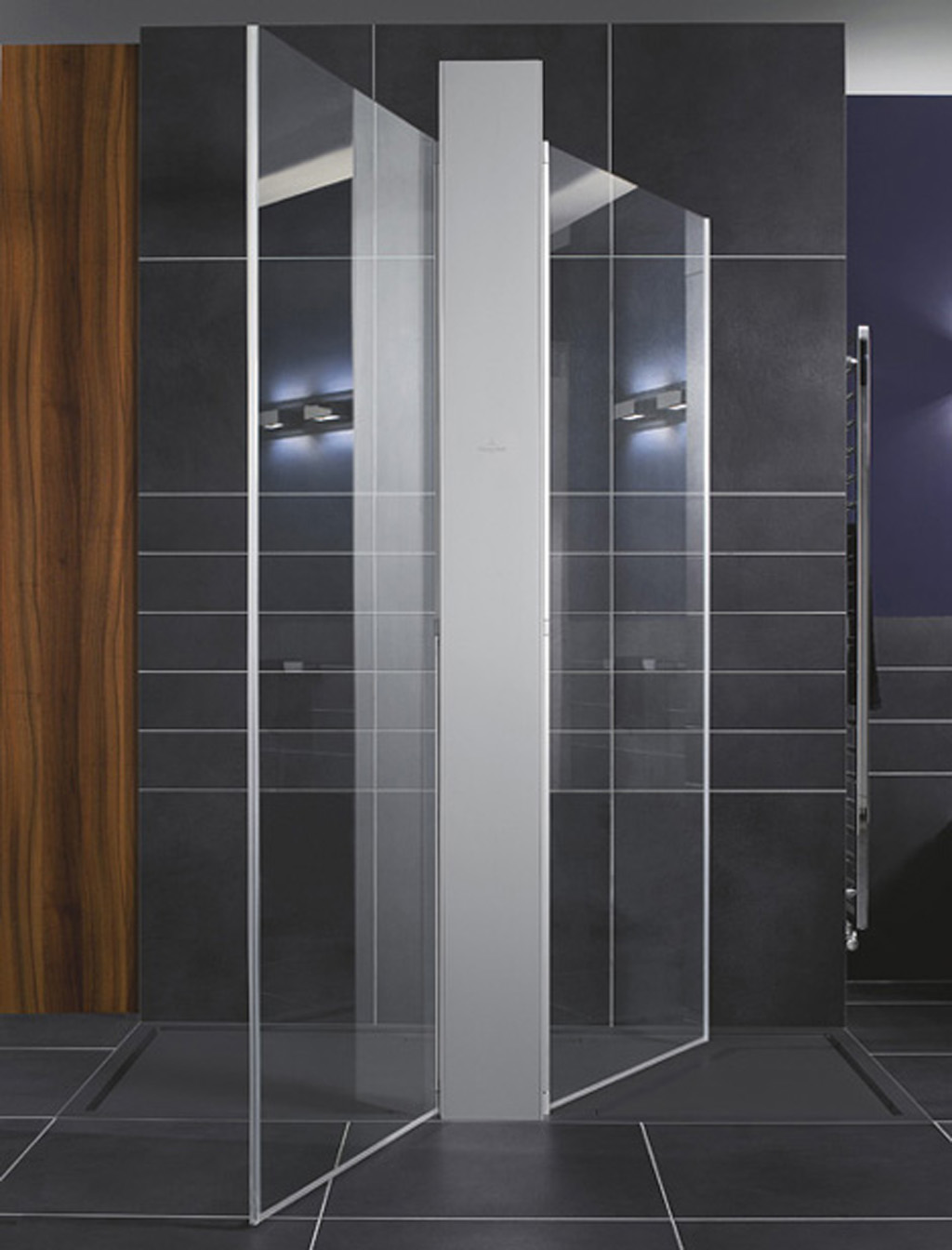 squaro modern futuristic walk in shower designs