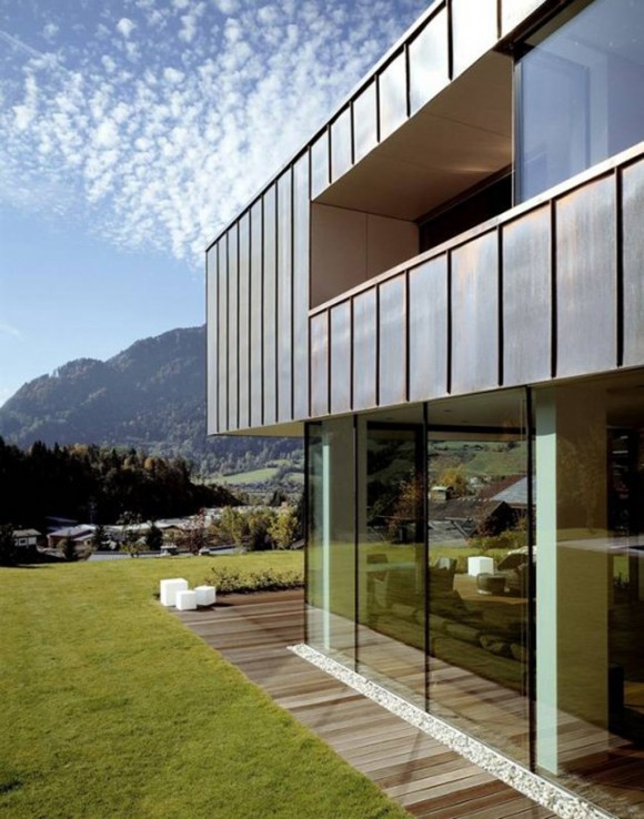 stylish wall glass sliding door