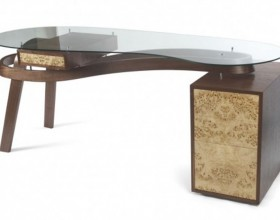 unique leather mosaic desk decor