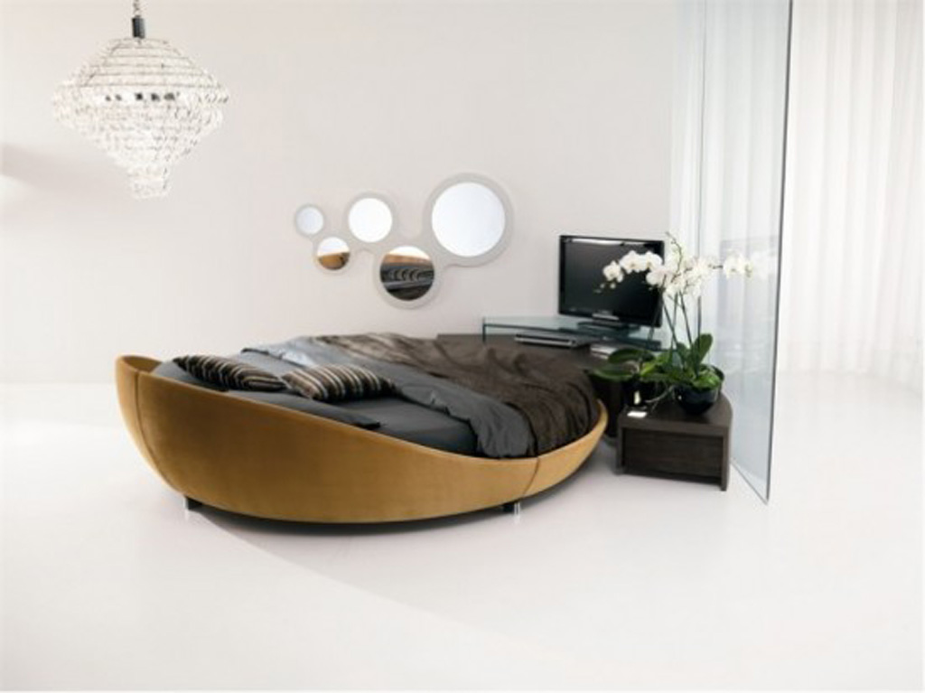 Unique Round Italian Bed Design