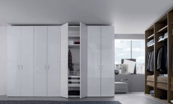 white Italian furniture storage area