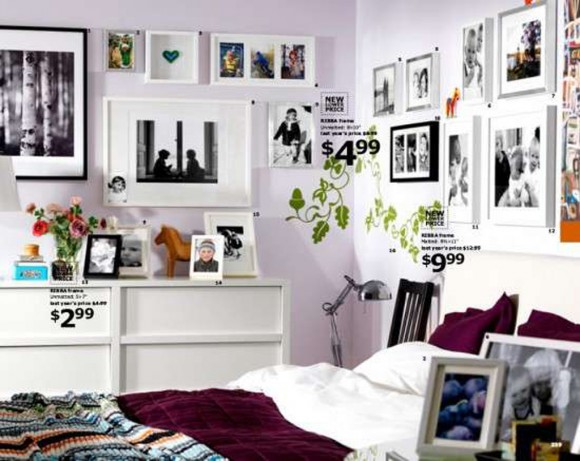 white bed room decorating idea