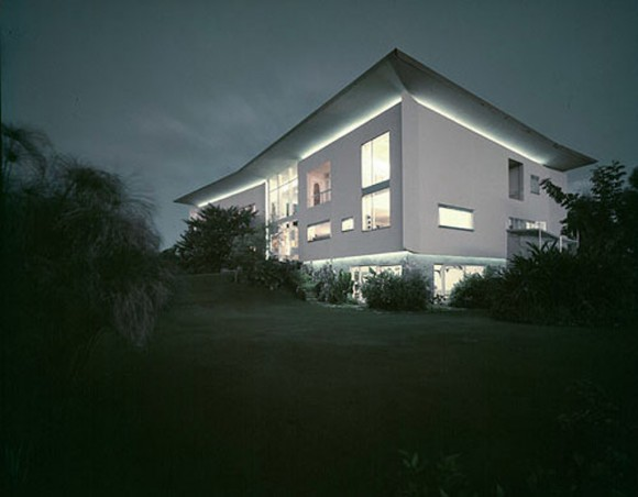 white comfortable villa design