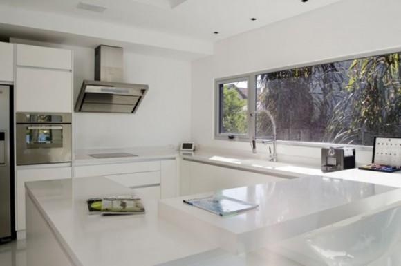 white minimalist kitchen design