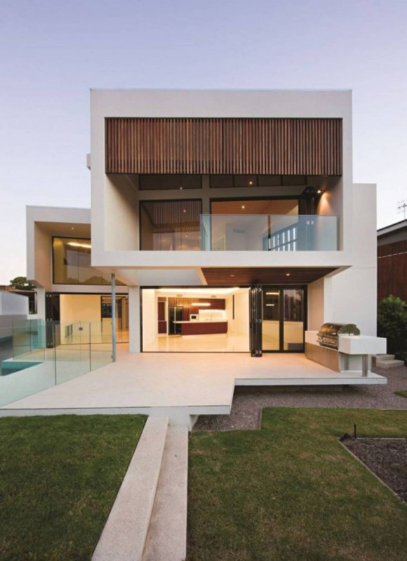 white modern house designs plans