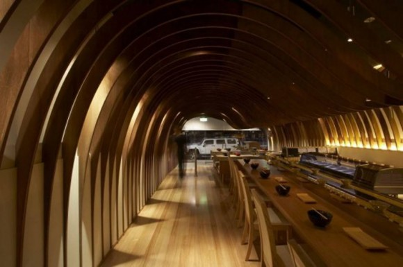wooden japanese restaurant interior plans