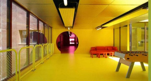 yellow waiting room designs
