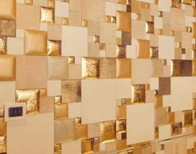 abstract leather tile construction