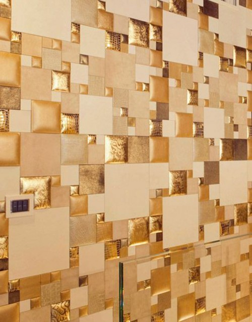 Gold Leather Wall