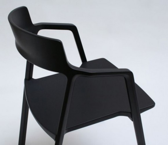 black arm chair decor