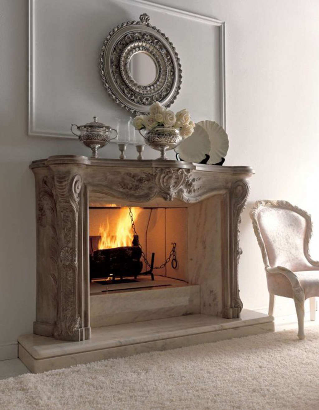Decorating Ideas Wall Above Fireplace : Classic fireplace decor idea iroonie