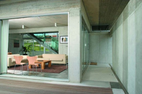 comfortable concrete interior decor