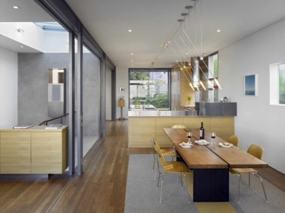 contemporary dining room interior