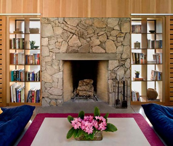 contemporary wall fireplace designs