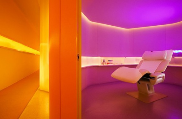 futuristic spa interior color