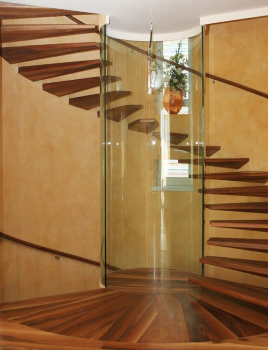 glass spiral staircase idea