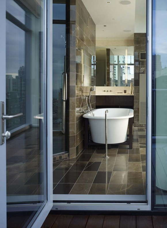 glossy bathroom interior decor