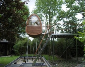 high tree house plans