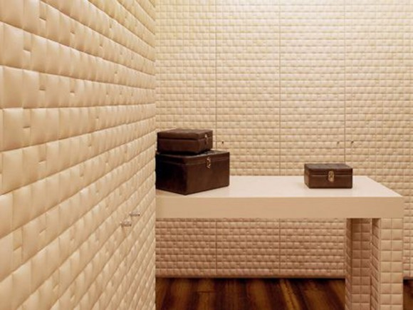 luxury leather wall panel decor