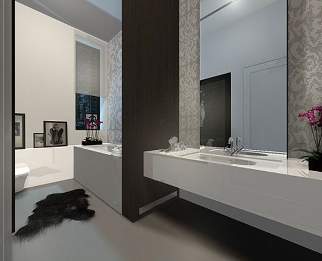 Pin Modern Bathroom With Minimalist Design 300x221 Modern Minimalist