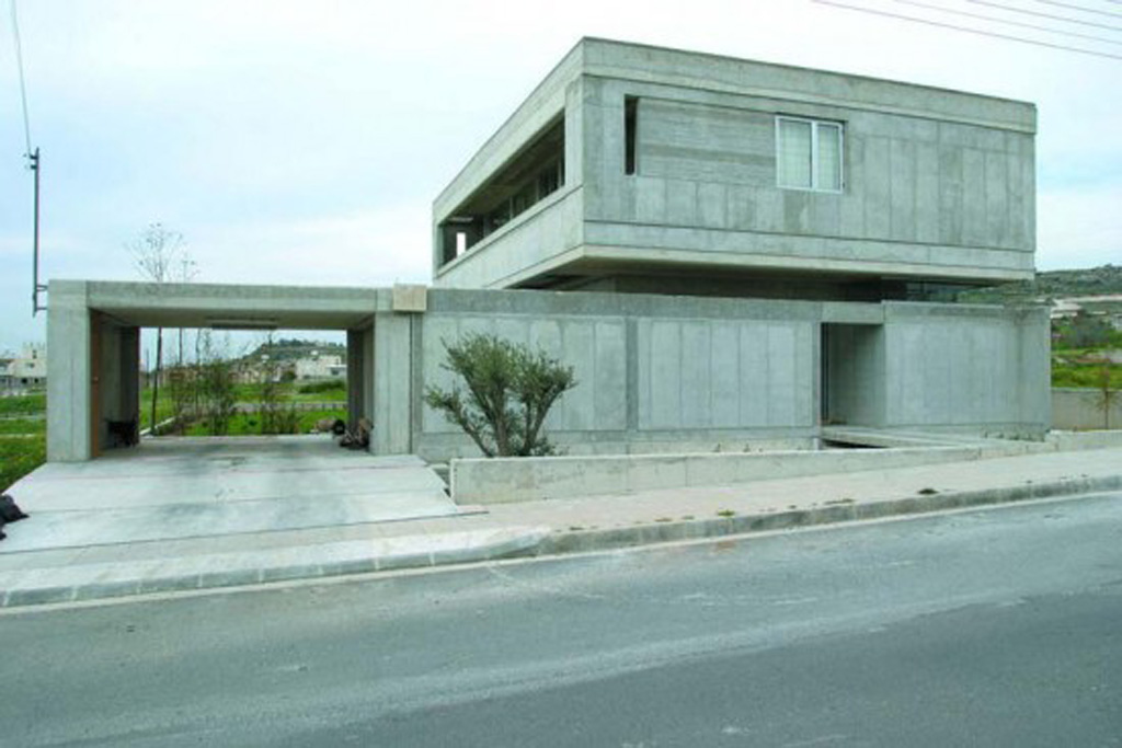 Modern concrete house in vardas residence paphos cyrus Modern home construction